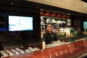 O'Sheehans Bar, and best barman