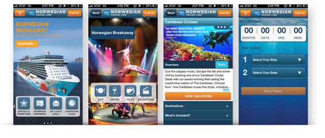 Image result for norwegian cruise line app